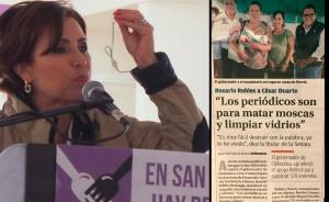 Rosario Robles - periodicos para matar moscas y limpiar vidrios