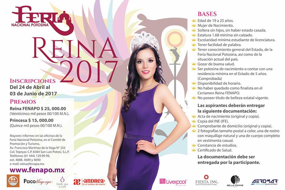 certamen belleza fenapo 2017-