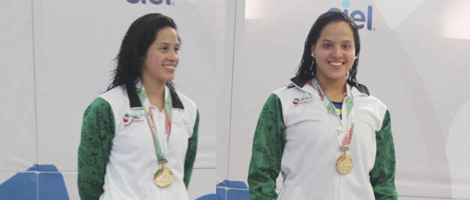 Ilse alvarez- rebeca oviedo-oro-en olimpiada nacional 2017-